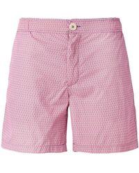 Fashion Clinic Micro Print Swim Shorts - Pink