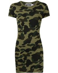 A Bathing Ape - Abito modello T-shirt con stampa camouflage - Lyst