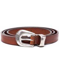 Tagliatore Cinturón con hebilla y detalles - Marrón