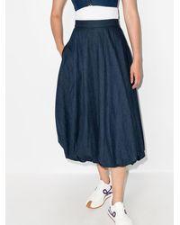 Tibi デニムスカート - ブルー