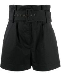 Ba&sh Kook ベルテッド ショートパンツ - ブラック