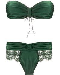 Oséree Bandeau-Bikini - Grün