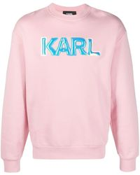 Karl Lagerfeld ロゴ スウェットシャツ - ピンク