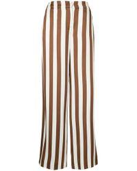 Oscar de la Renta - Wide Leg Striped Trousers - Lyst