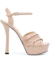 Grey Mer Open Toe Platform Sandals - Multicolour