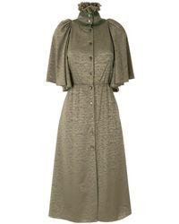 À La Garçonne Victorian Neck Dress - Green