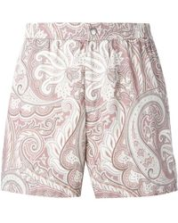Brioni - Printed Swimming Shorts - Lyst