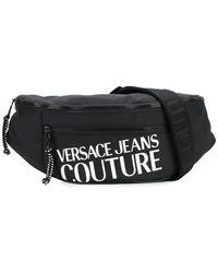 Versace Jeans Contrast Logo Belt Bag - Black