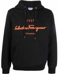 Ferragamo Худи С Вышитым Логотипом - Черный