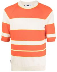 Anglozine Striped Knitted Jumper - Orange