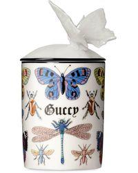 Gucci Kerze mit Insekten-Print - Weiß