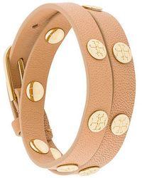 Tory Burch - Logo Stud Wrap Bracelet - Lyst