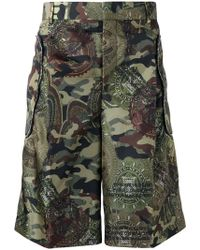 Givenchy - Camouflage Printed Bermuda Shorts - Lyst