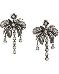 N°21 Palm Tree Earring - Metallic