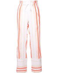 lemlem Fiesta Striped Beach Trousers - Yellow