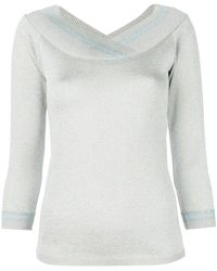 Charlott - Metallic V-neck Pullover - Lyst