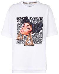 Fendi - Prints On Graphic-print T-shirt - Lyst