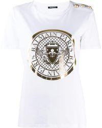 Balmain プリント Tシャツ - ホワイト