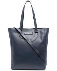 Societe Anonyme Leather Appliqué Detail Tote Bag - Blue