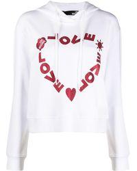 Love Moschino ロゴ パーカー - ホワイト
