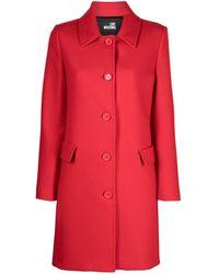 Love Moschino Пальто С Логотипом - Красный