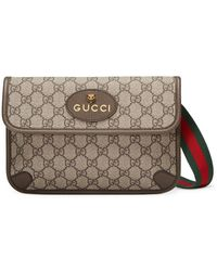 Gucci GG Supreme Belt Bag - Brown