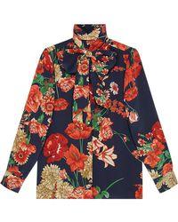 Gucci - Spring Bouquet Silk Shirt - Lyst