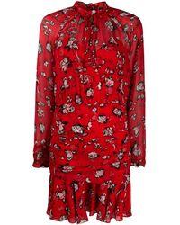 Veronica Beard Платье Alena С Цветочным Принтом - Красный