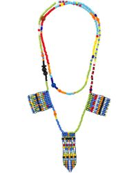 Ports 1961 - Beaded Charm Necklace - Lyst