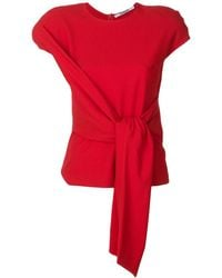 Chalayan Tie-front Blouse - Red