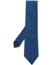 Hermès 2000's Stropdas Met Print - Blauw