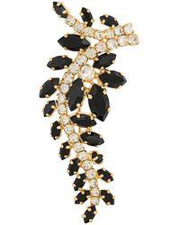 Christian Dior x Susan Caplan Broche à design de feuille - Métallisé