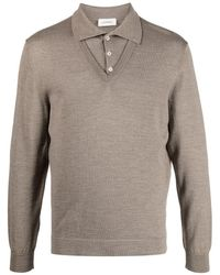 Lemaire Knitted Layered Polo Shirt - Brown