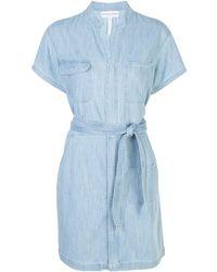 Apiece Apart Robe-chemise courte à rayures - Bleu