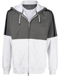 Brunello Cucinelli Легкая Куртка Со Вставками - Серый