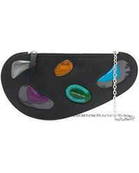 Christopher Kane Curve Leather And Gel Bag - Multicolor