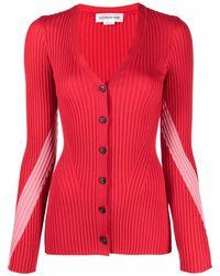 Victoria Beckham Cardigan in Colour-Block-Optik - Rot