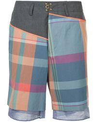 Kolor - Plaid Bermuda Shorts - Lyst