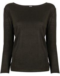 Aspesi Ribbed-knit Cotton Sweatshirt - Green