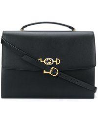 Gucci Horsebit Briefcase - Black