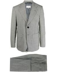 Maison Margiela Check Pattern Single-breasted Suit - White