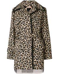 N°21 Leopard Print Belted Jacket - Brown