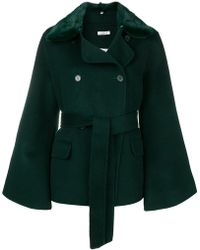 P.A.R.O.S.H. - Fur Collar Double-breasted Jacket - Lyst