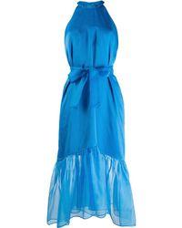 Pinko ベルテッド ドレス - ブルー