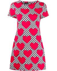 Love Moschino Heart Print T-shirt Dress - Black