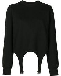 Dion Lee Garter Detail Sweatshirt - Black