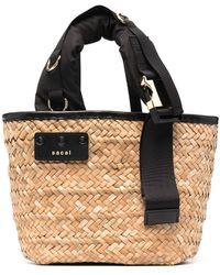 Sacai ロゴ ハンドバッグ - マルチカラー