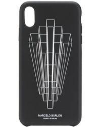 Marcelo Burlon Iphone Xs Max Hoesje Met Logoprint - Zwart