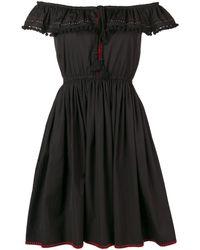 Miu Miu オフショルダードレス - ブラック