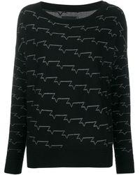 Zadig & Voltaire Metallic Pattern Jumper - Black